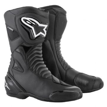 Alpinestars SMX S Waterproof Motorcycle Race Boots Black Black